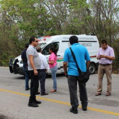 Entre la maleza y en avanzada descomposición, hallan cuerpo de mujer en el km 28 de  la Zona Hotelera de Cancún