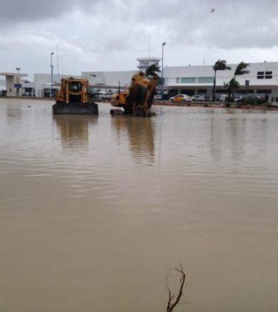AEROPUERTO DEL TERCER MUNDO: Lluvias exhiben deficiencias en instalaciones; se inunda interior de la terminal 1