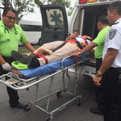 Arrollan a agente de Tránsito por infraccionar a un hombre estacionado en lugar para discapacitados