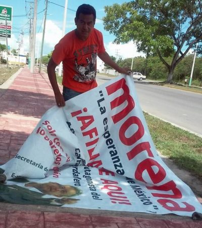 Rompeolas: Insiste Rafael Quintanar en ser candidato de Morena
