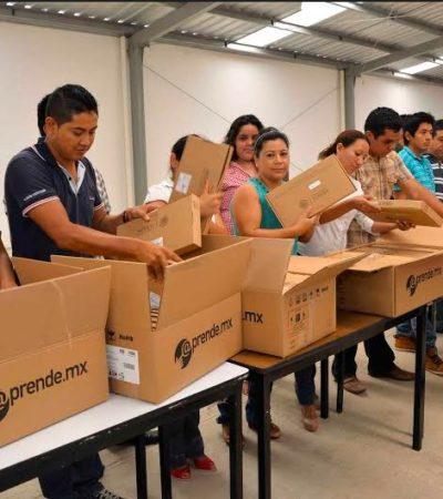 Bajo custodia del Ejército, llega a QR cargamento de 27 mil 'tablets' escolares