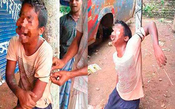 Estremece a Bangladesh video de niño golpeado hasta la muerte por supuesto robo de una bicicleta