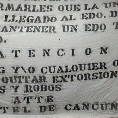 """""""VENIMOS A QUITAR EXTORSIONES, CUOTAS, SECUESTROS…"""": Con narcomanta, anuncian el supuesto surgimiento del 'Cártel de Cancún'"""