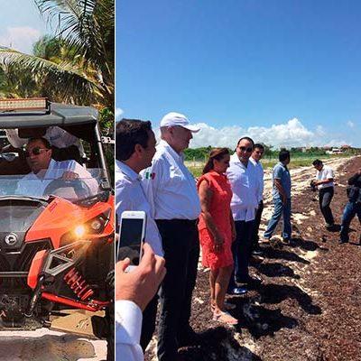 DAN DINERO PARA RECOGER SARGAZO: Destinan 12 mdp a empleos temporales para enfrentar contingencia en playas de QR