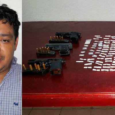 CAEN MÁS NARCOMENUDISTAS: Con droga y armas, capturan en la SM 39 a otros 2 presuntos integrantes del naciente 'Cartel de Cancún