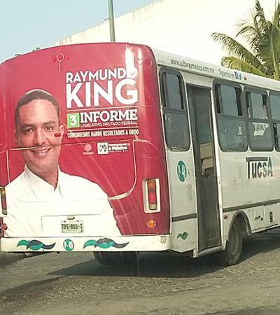 EL DERROCHE DESESPERADO DE RAYMUNDO KING: En su afán de meterse a la sucesión, el diputado federal gasta millones en publicidad