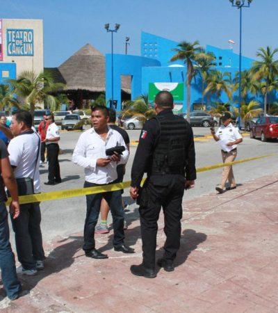 BALACERA AFUERA DEL TEATRO DE CANCÚN: Reportan 3 policías federales heridos en confuso incidente en Zona Hotelera; discusión devino en disparos