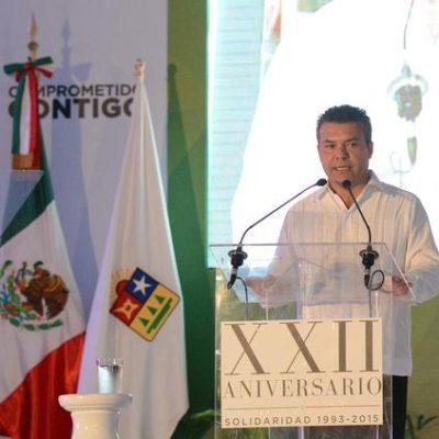 """ANIVERSARIO DE SOLIDARIDAD: Vive el municipio """"tiempos extraordinarios"""", dice Mauricio Góngora"""