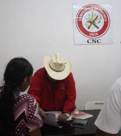 'MOCHADA' DE A 500 PESOS: Lucra la CNC con apoyos de vivienda para campesinos