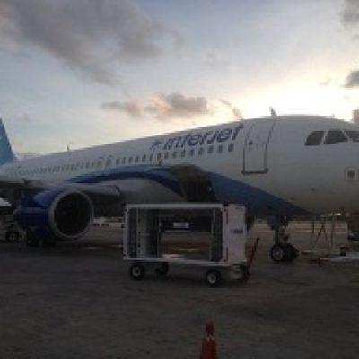 Por falla mecánica, aterriza en Cancún avión de Interjet que salió de Miami con rumbo al DF