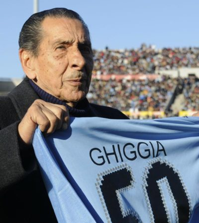 SE CIERRA UN CÍRCULO PERFECTO DEL FUTBOL: Justo al cumplirse 65 años del Maracanazo, muere a los 88 años Alcides Ghiggia, héroe de Uruguay y verdugo de Brasil en el Mundial de 1950