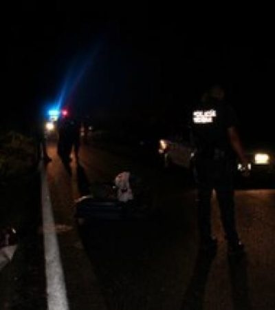 MORTAL ACCIDENTE EN CARRETERA: Fallece niña de 7 años en volcadura en la vía Cancún-Leona Vicario
