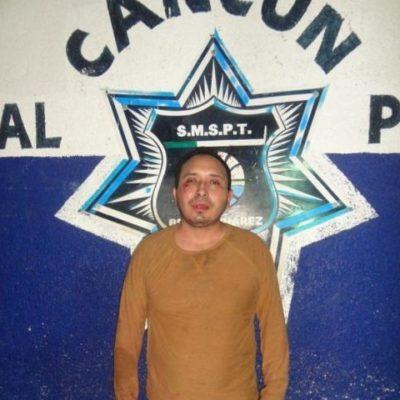 Por violencia familiar, detienen al supuesto yerno del jefe de la policía de Cancún, Arturo Olivares Mendiola