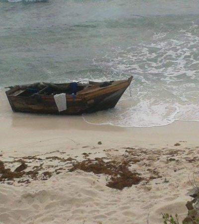 A plena luz del día, desembarcan balseros cubanos en playa de Isla Mujeres