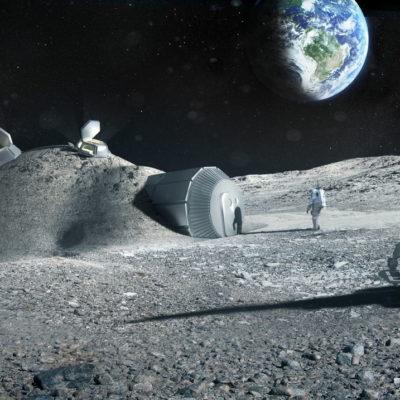 BASE ESPACIAL EN LA LUNA EN 20 AÑOS: Estudio prevé construir a 'bajo costo' una base que sirva para viajes a Marte