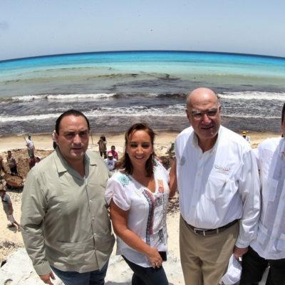 Autorizan otros 150 mdp para enfrentar la contingencia del sargazo en playas de Quintana Roo