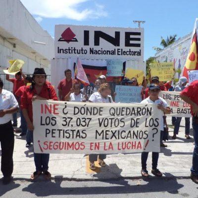 SE TERMINA LA JAUJA: Protestan petistas en oficinas del INE porque les 'congelaron' sus cuentas en QR