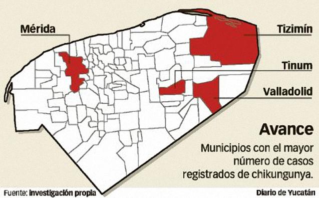 Advierten incremento de casos de chikungunya en municipios de Yucatán colindantes con Quintana Roo