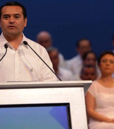 """SE DESPIDE RENÁN BARRERA DE MÉRIDA: Alcalde panista rinde su último informe de gobierno; """"no busqué popularidad"""", dice"""