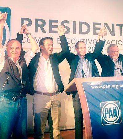 """GANA RICARDO ANAYA PRESIDENCIA DEL PAN: Ofrece """"oposición crítica"""" a Peña Nieto; Javier Corral denuncia irregularidades, pero acepta resultados"""