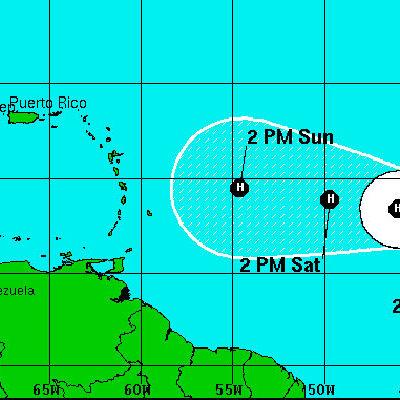 SE FORMA LA TORMENTA TROPICAL 'DANNY' EN EL ATLÁNTICO: Vigilan el ciclón que se dirige hacia la zona del Caribe y se volvería huracán