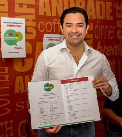 CONSULTA CIUDADANA A LO 'CHANITO': Anuncia diputado electo encuestas para recopilar 'sentimientos y preocupaciones' en QR