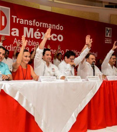 Se pliega PRI-QR a la candidaturas de Beltrones y Monroy para dirigir el partido a nivel nacional