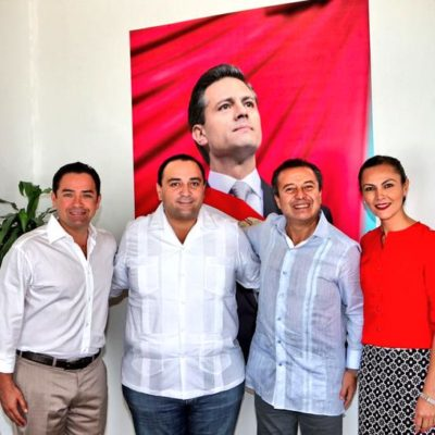 SE COMPROMETEN CON LA 'CONTINUIDAD': Se reúne líder nacional del PRI con Gobernador y diputados electos de QR