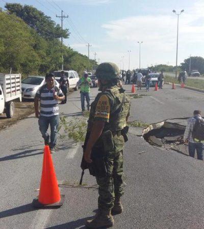 AUMENTAN COSTO DE TRANSPORTE POR HUNDIMIENTO EN CARRETERA: Cobran hasta $130 por persona para completar viaje entre Playa y Cancún