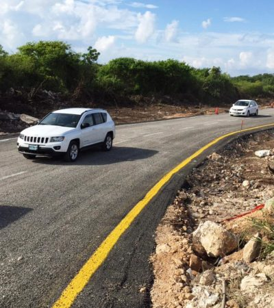 Podrían construir un puente en la zona del hundimiento de la carretera Cancún-Playa, adelanta Mendicuti