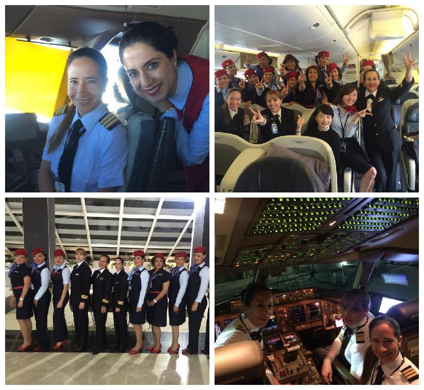 VUELAN ALTO LAS MUJERES: Por primera vez en México, tripulación femenina completa viaje transcontinental