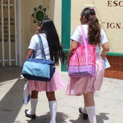 Anuncian oootro cambio de horario para la entrada a las escuelas en Quintana Roo
