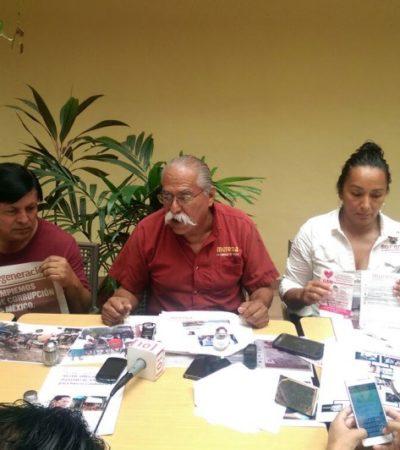 Repudia Morena a Greg Sánchez y acusa al gobierno de Borge de estar detrás de campaña de desprestigio