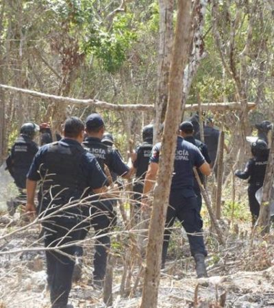 OTRA FALLIDA INVASIÓN: Detienen a 3 que intentaban ocupar terreno en la zona de In House en Playa del Carmen