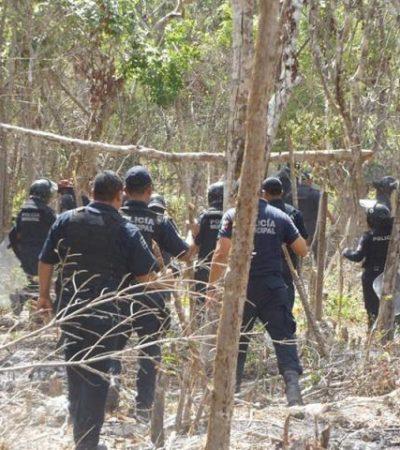 OTRA FALLIDA INVASIÓN: Detienen a 3 que intentaban ocupar terreno en la zona de In House en Playa del Carmen