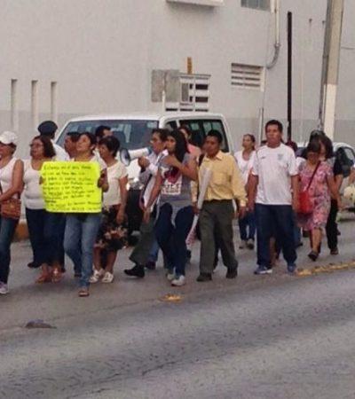 Se suman trabajadores del IMSS en QR a protestas nacionales contra eventual privatización