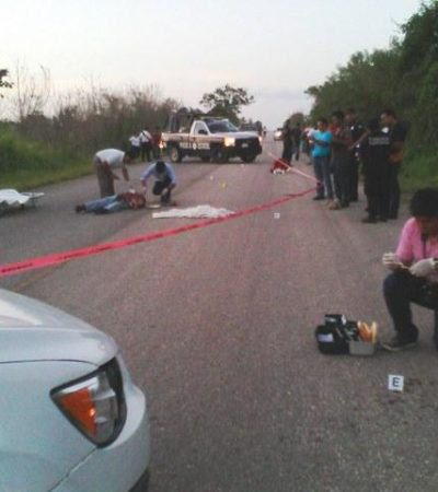 Asesinan a machetazos a un comerciante en carretera del sur de QR