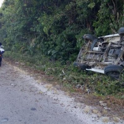 Un herido en accidente en la carretera Cancún-Mérida