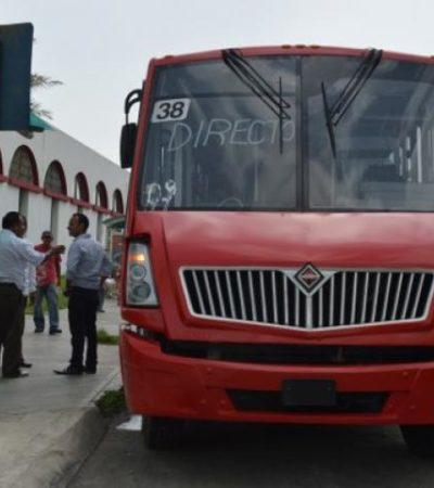 Reducen el costo del pasaje en transporte urbano en Chetumal