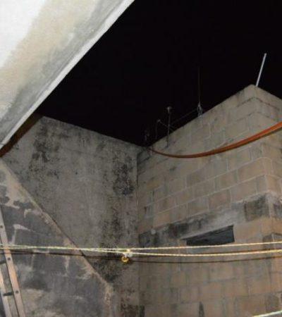 Cae albañil ebrio de azotea y muere desnucado en la Región 72 de Cancún
