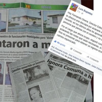 ENCARAN AL DIARIO DE QR: Vocero de OPB responde a críticas y le dice que no firmarán la paz a cambio de convenio de publicidad