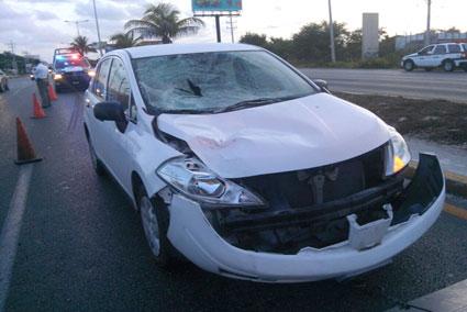 Muere otro peatón atropellado en el bulevar Luis Donaldo Colosio de Cancún
