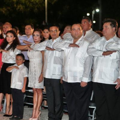 """DESENTIERRA BORGE EL HACHA DEL NATIVISMO: Proclama Gobernador que el estado siga controlado por quintanarroenses; """"nunca más bajo la sombra de nuestros vecinos de Yucatán"""", dice de cara a la sucesión del 2016"""