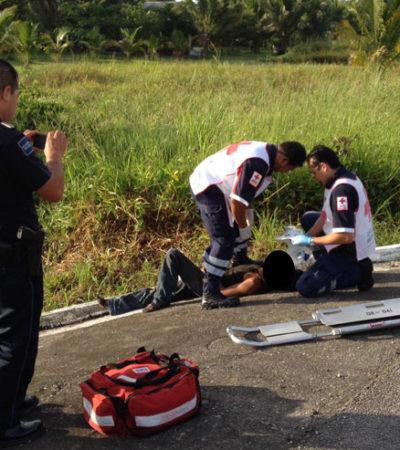 LO DIERON POR MUERTO Y LO AVENTARON AL MONTE: Hallan a hombre apuñalado en la zona de Xul-Ha