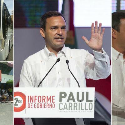 """USA PAUL INFORME PARA PROYECTARSE AL 2016: Con acarreados, presume Alcalde 'avances' en Cancún y dice que """"vamos por más"""""""
