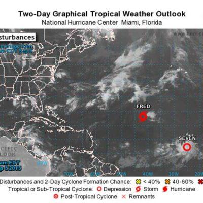 MONITOREO EN EL ATLANTICO: Se forma depresión tropical número 7 en el Atlántico