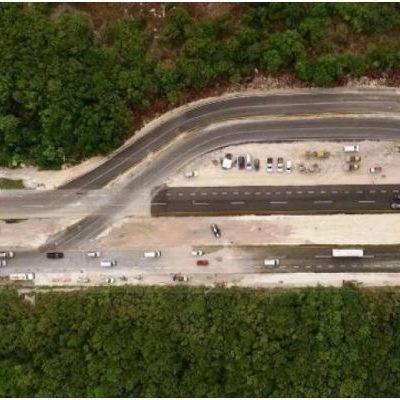 TERMINAN REPARACIÓN DE CARRETERA: En tiempo récord, dan por concluidos los trabajos en la zona de hundimiento de la vía Playa-Cancún