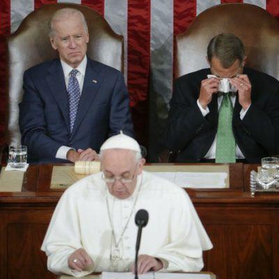 Aboga el Papa por inmigrantes en el Congreso de EU; se pronuncia contra la pena de muerte y el tráfico de armas