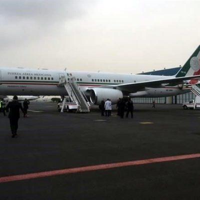 Llega a México avión presidencial con los sobrevivientes del ataque en Egipto