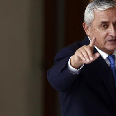 GUATEMALA PONE EL EJEMPLO: Un juez ordena arraigo del Presidente tras retirarle el Congreso la inmunidad